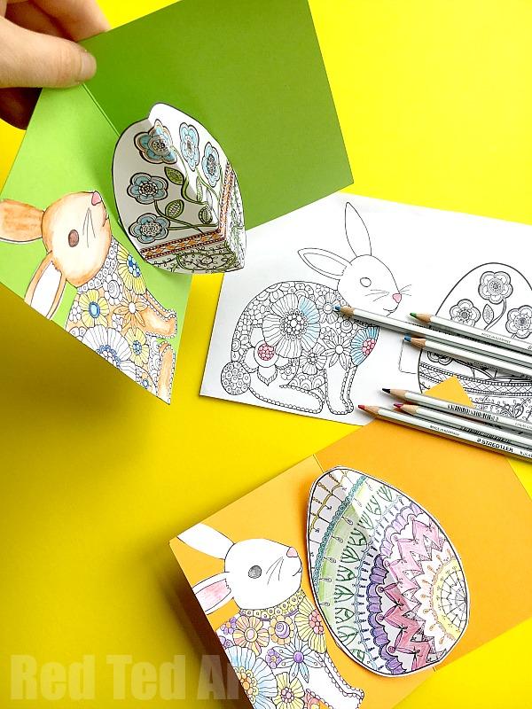 Easy Pop Up Easter Card DIY - Red Ted Art\u0027s Blog