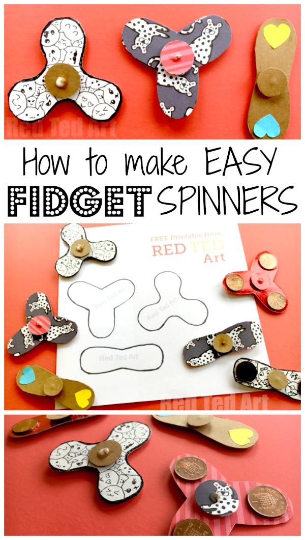 Easy Fidget Spinner DIY (Free Template) - Science Fair Project Idea