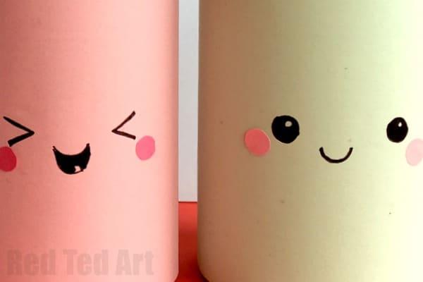Kawaii Pencil Holder Diy Idea Red Ted Art39s Blog