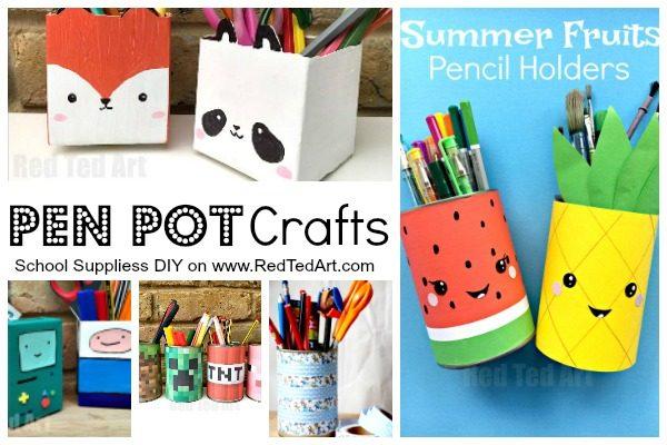 School Supplies Diy Ideas Red Ted Art39s Blog