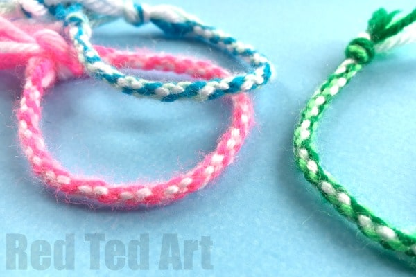 Easy Friendship Bracelets With Cardboard Loom Red Ted