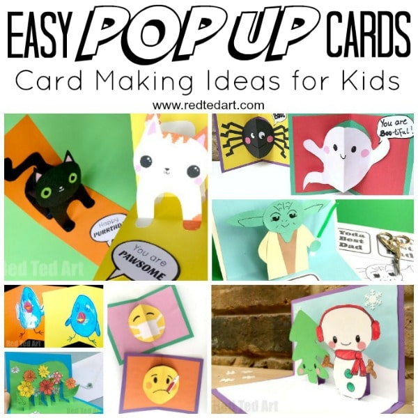 Easy Pop Up Card How To Projects - Red Ted Art\u0027s Blog