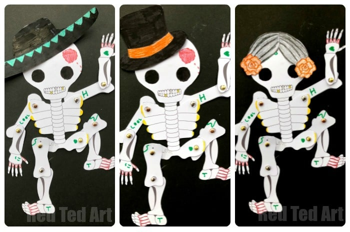 Day of the Dead Paper Puppet Template - Red Ted Art\u0027s Blog