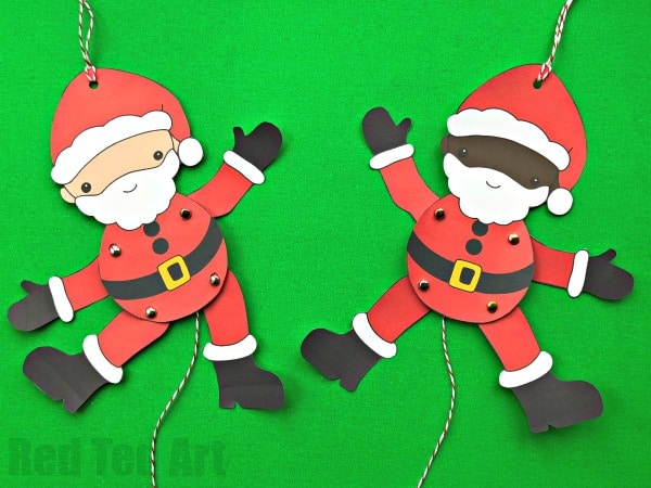 Santa Paper Puppet Red Ted Art39s Blog