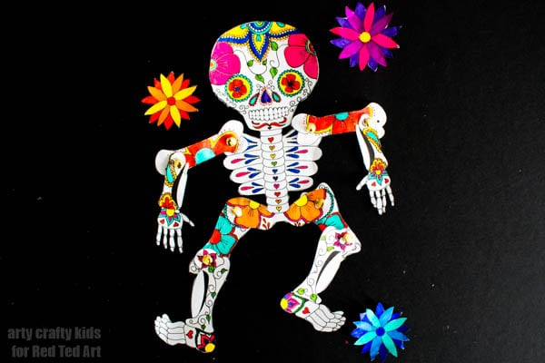 Day Of The Dead Paper Puppet Template Red Ted Art39s Blog
