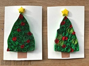 Paper Quilled Christmas Trees Red Ted Art39s Blog