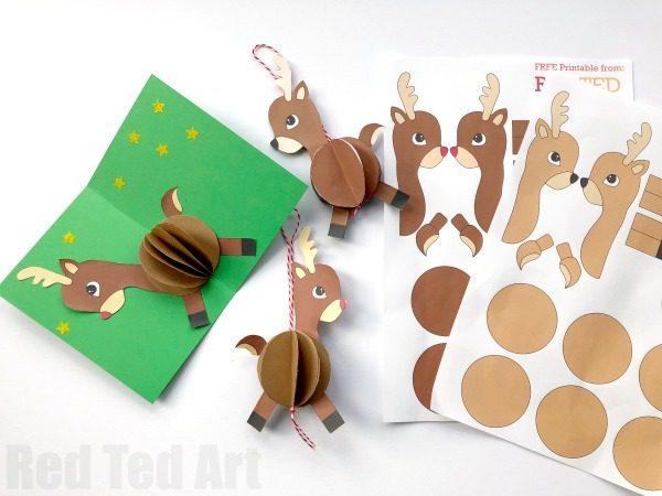 Paper Reindeer Ornament - Red Ted Art\u0027s Blog