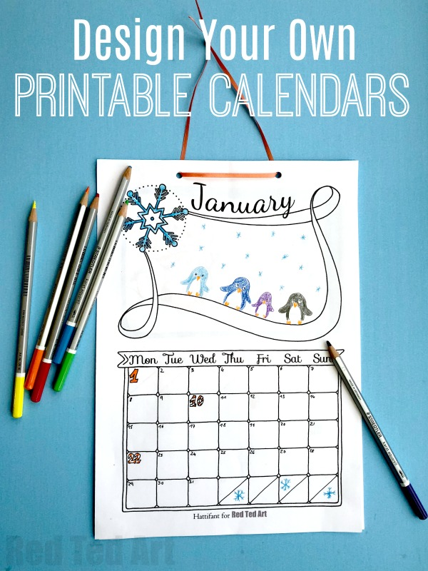 Free Cute Printable Calendar 2018 - Red Ted Art\u0027s Blog