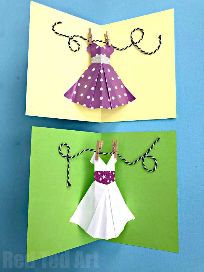 Pop Up Dress Card for Mother\u0027s Day - Red Ted Art\u0027s Blog - mother sday cards