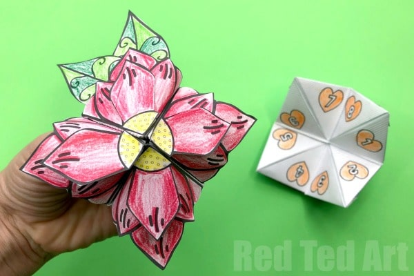 Mother\u0027s Day Flower Fortune Teller - Red Ted Art