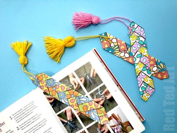 Paper Weaving Printable Bookmark - Red Ted Art\u0027s Blog