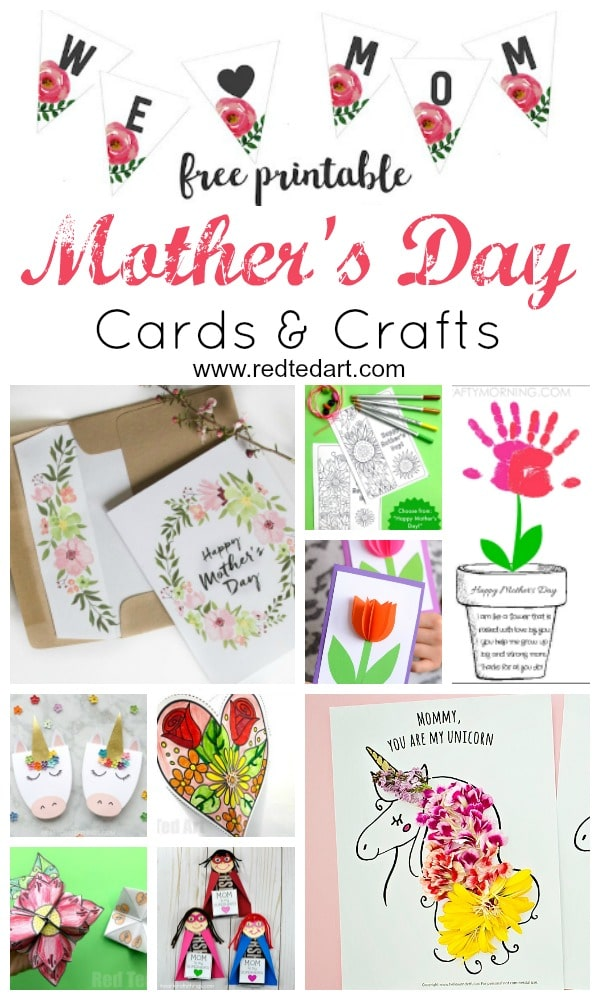 Printable Mother\u0027s Day Cards  Crafts - Red Ted Art\u0027s Blog