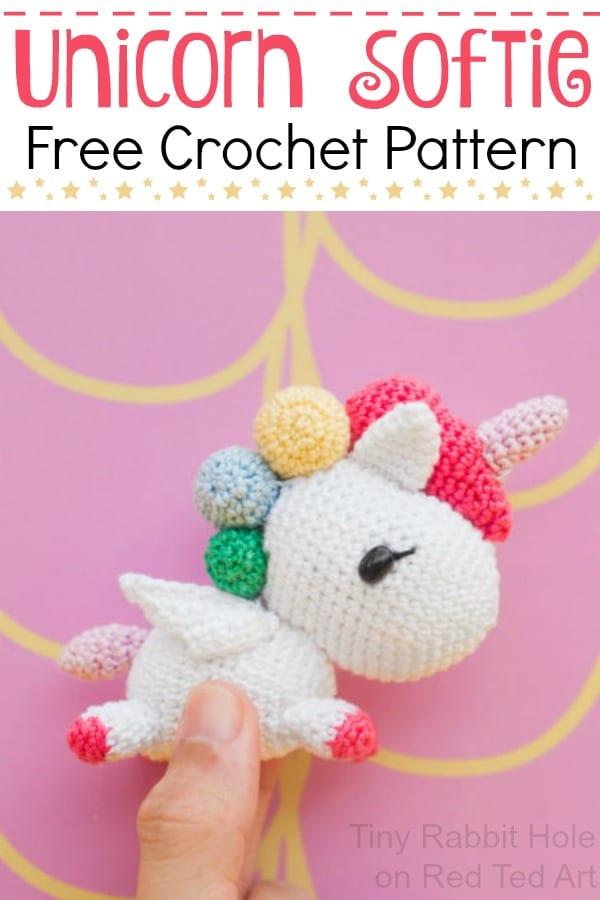 Free Crochet Unicorn Pattern - Red Ted Art\u0027s Blog