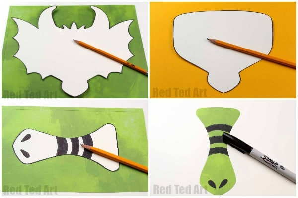 DIY Dragon Mask Printables - Red Ted Art\u0027s Blog