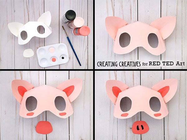 Paper Plate Pig Mask Template - Red Ted Art\u0027s Blog