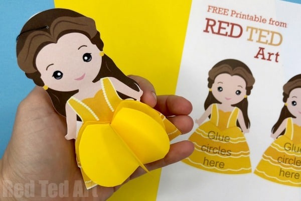 Paper Disney Doll Diy Princess Printables Red Ted Art