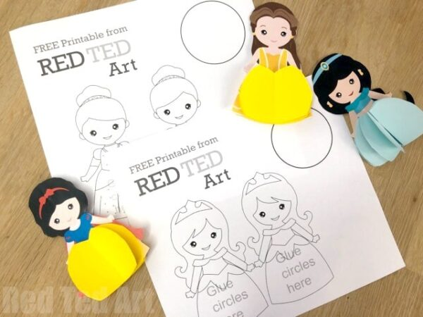 Paper Disney Doll DIY - Princess Printables - Red Ted Art\u0027s Blog