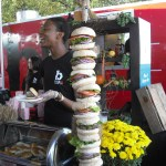 Burgers on a pole!  Dr. Suess meets Adam Richman?