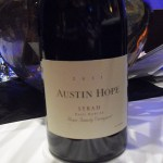 The excellent Austin Hope Syrah