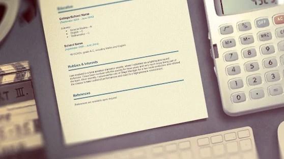 Career change CV template reeduk - cv template