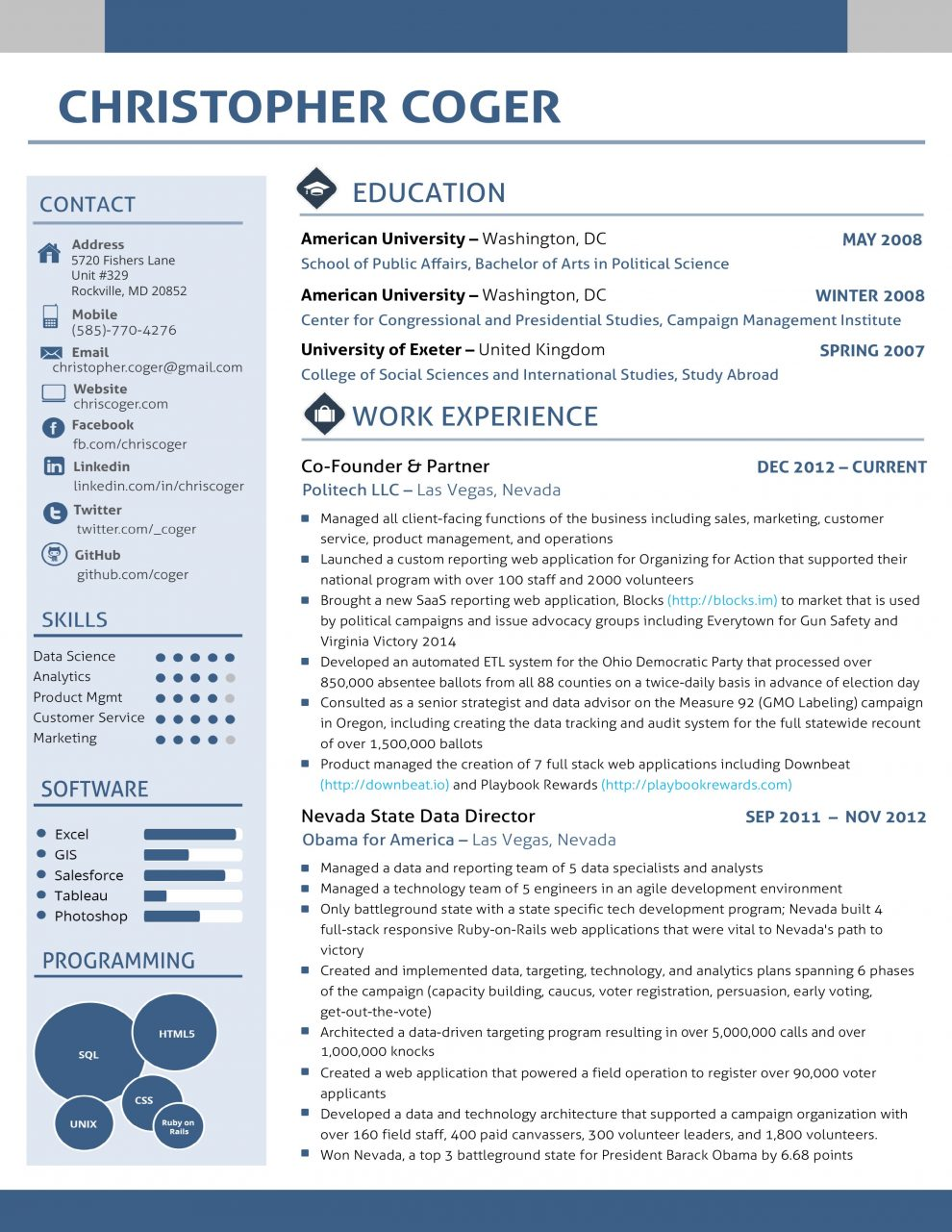 good cv layout examples uk