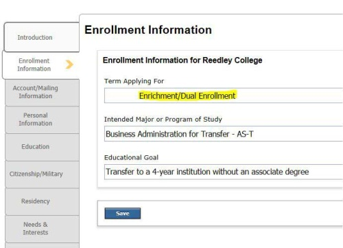 Dual Enrollment Madera College - admission forms for schools