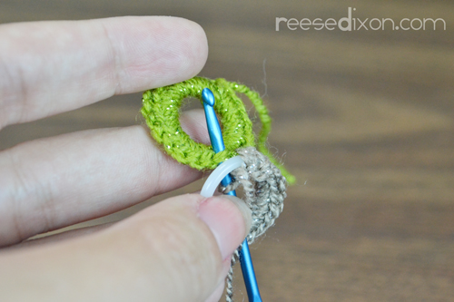 Connect Crochet Circles Step 1