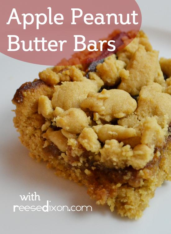 Peanut Butter Apple Bars