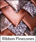 Ribbon Pinecones
