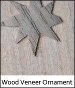 Wood Veneer Ornament