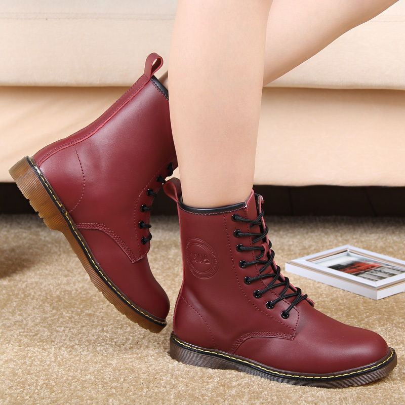 New Style Dr Genuine Leather Women Boots Martin Winter