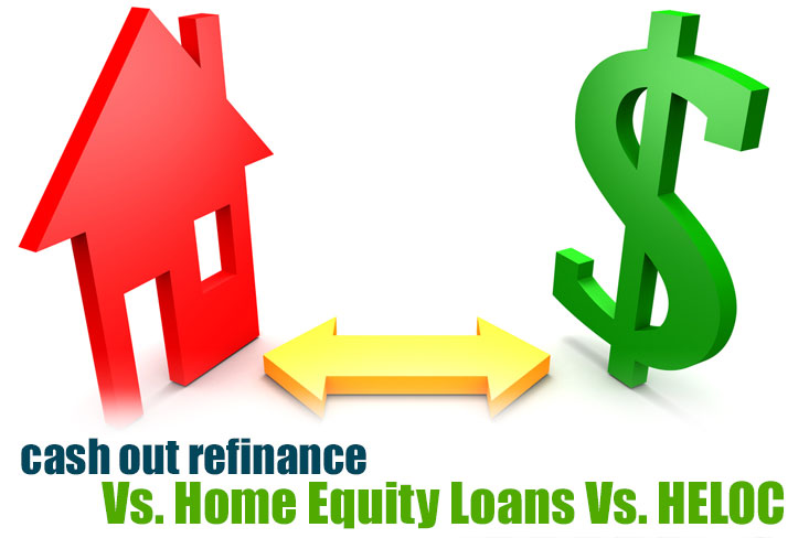 Comparing the Cash Out Refinance to the Home Equity Loan  HELOC - cash out refi calculator