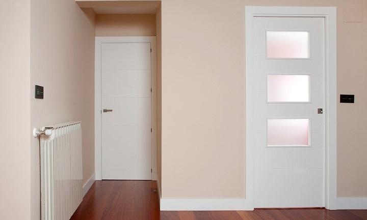 Puertas lacadas con cristal