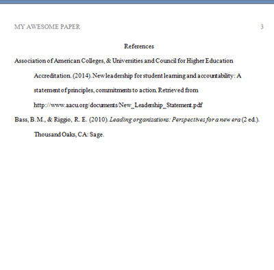 APA Template Reference Point Software - point paper template