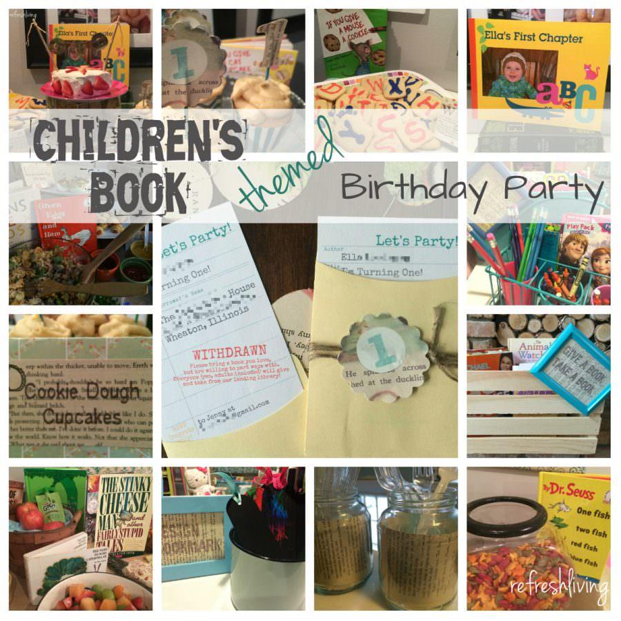 Children's Book Themed Birthday Party
