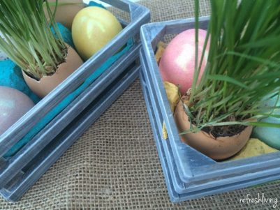 upcycled diy easter egg centerpiece