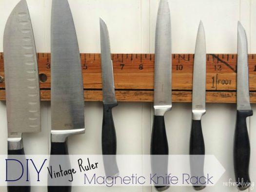 diy magnetic wood knife holder