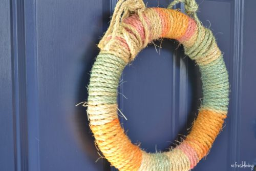 diy dyed rope summer wreath