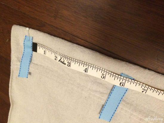 diy drop cloth curtains with ribbons