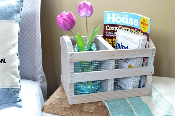 Rustic crate from a thrift store box