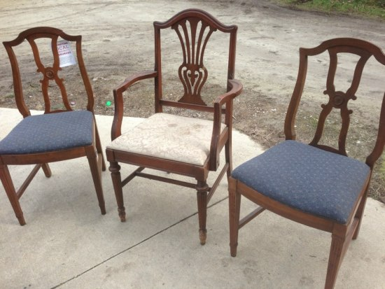 how to refinish dining chairs