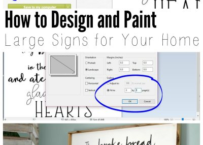 how to design and paint large signs for your home