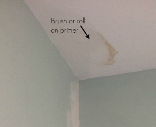 How To Cover Up Water Stains On The Ceiling Plus A New