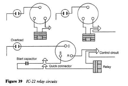 refrigerator relay diagram