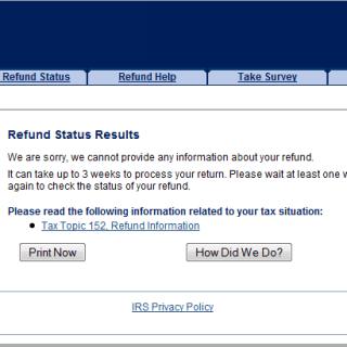 2016 Refund Status