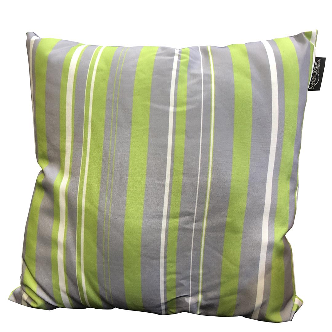 Scatter Cushion Lime Stripe Print Regatta Garden