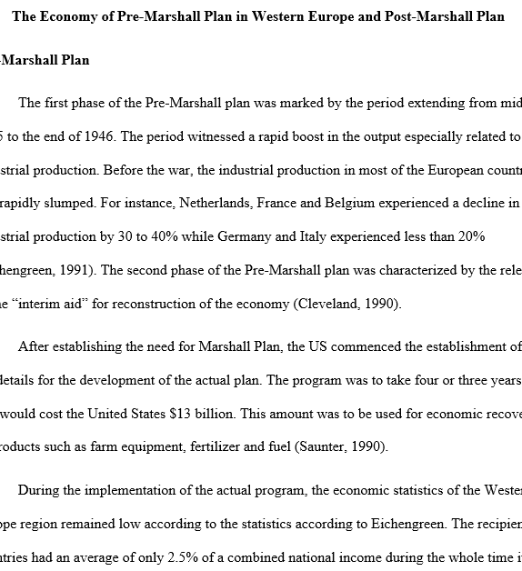 marshall plan essay