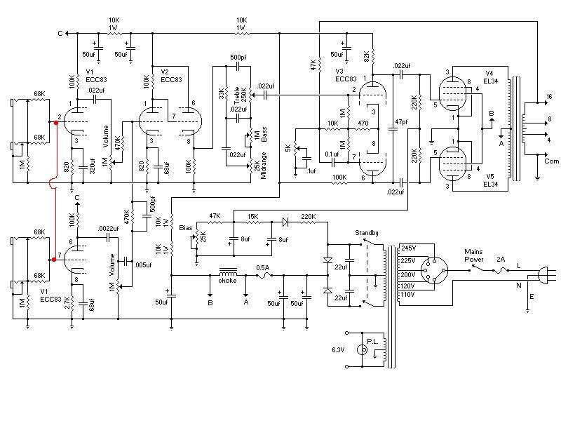 marshall plexi input jack wiring