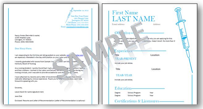 sample nursing resume template