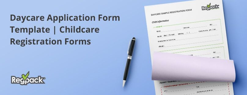 Daycare Application Form Template Childcare Registration Forms